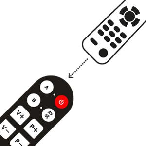 Direttamente dal telecomando originale